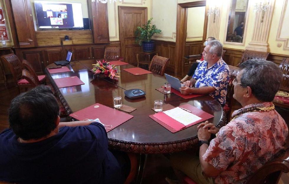 Visioconférence avec le bureau exécutif du Conseil des Jeux du Pacifique